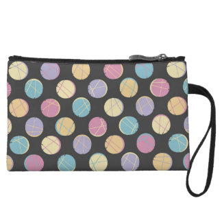 Colorful urban polka dots black schick clutch rück