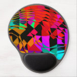 colorful waves gel mousepads