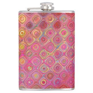 Colorfull künstlerische Retro Muster-Flasche Flachmann