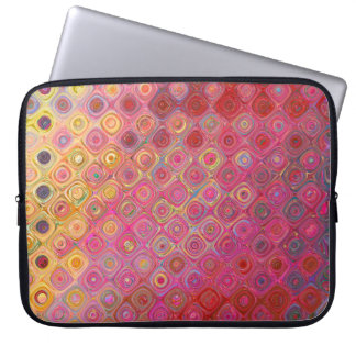 Colorfull künstlerische Retro Muster-Laptop-Hülse Laptopschutzhülle