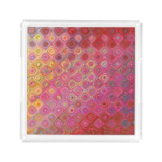 Colorfull künstlerischer Retro Muster-Behälter Acryl Tablett