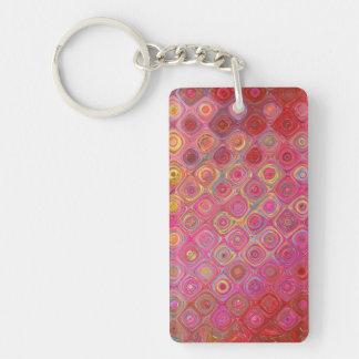 Colorfull künstlerisches Retro Muster Keychain Schlüsselanhänger