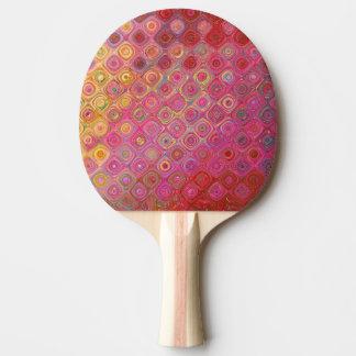 Colorfull künstlerisches Retro Muster-Klingeln Tischtennis Schläger