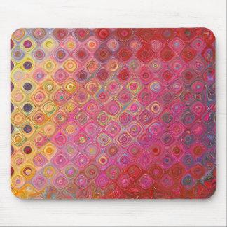 Colorfull künstlerisches Retro Muster Mousepad