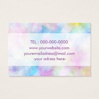 Colorfull lila einfache entworfene Geschäfts-Karte Visitenkarte