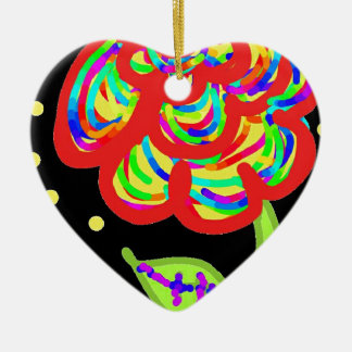 colorfull Rosen-Cartoon Keramik Ornament