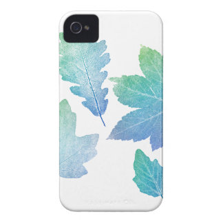 colorfull skeleton Leafs blue iPhone 4 Cover