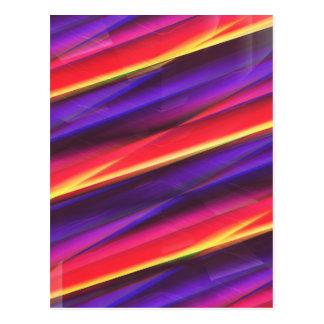 Colorgradient Lila des Musters durch Christine Postkarte