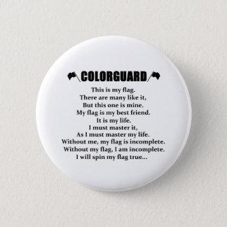 Colorguard Rhythmus-Knopf Runder Button 5,7 Cm