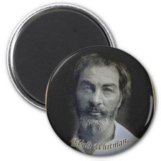 Colorized Walt Whitman Porträt Runder Magnet 5,1 Cm