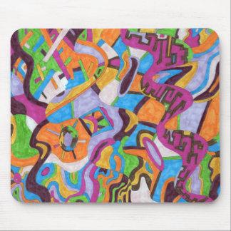 """""""Colorscape"""" abstrakte Kunst Mauspad"""