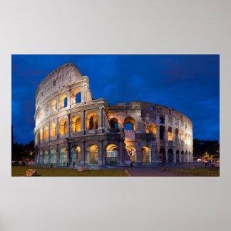 Colosseum an der Dämmerung Posterdrucke