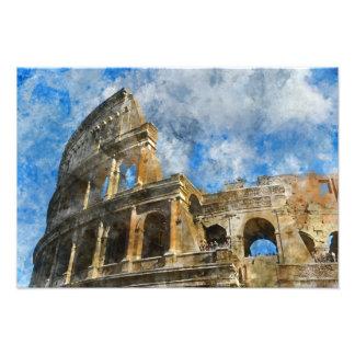 Colosseum in altem Rom Italien Fotodruck