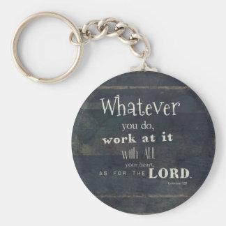 Colossians 3:23 Bibel-Vers, Schriftskunst Schlüsselanhänger