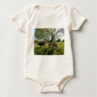 Colossol Texas Longhorn Vieh Baby Strampler