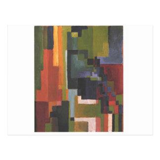 Colourfull formt bis August Macke Postkarte