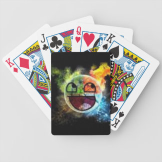 colourfull Gesicht Bicycle Spielkarten
