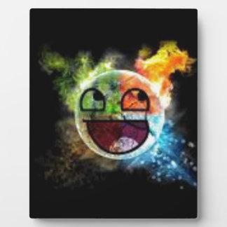 colourfull Gesicht Fotoplatte