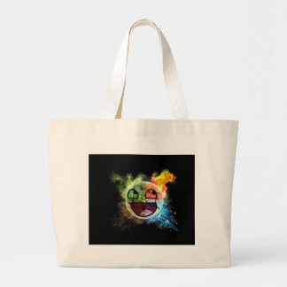 colourfull Gesicht Jumbo Stoffbeutel