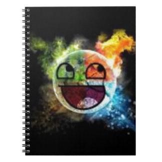 colourfull Gesicht Notizblock