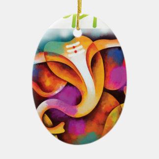 colr-ganpati2 ovales keramik ornament