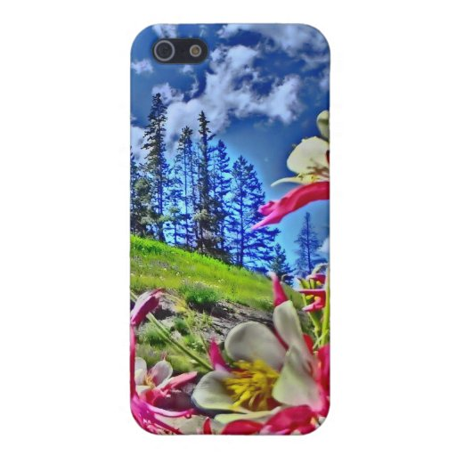Columbine-Blume landschaftlicher ipad Fall iPhone 5 Cover