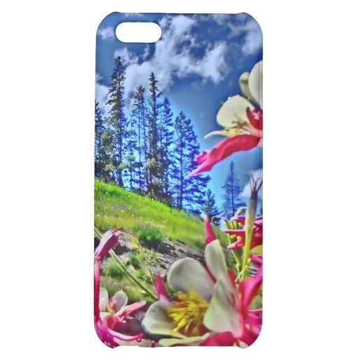 Columbine-Blume landschaftlicher ipad Fall iPhone 5C Cover