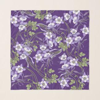 Columbine-Blumenstrauß-kundengerechter Hintergrund Schal