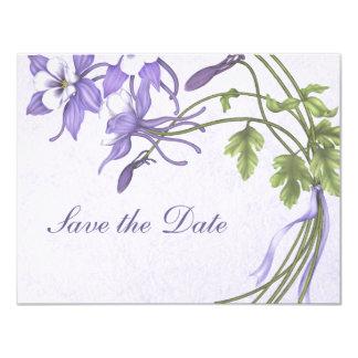 Columbine-Blumenstrauß Save the Date 10,8 X 14 Cm Einladungskarte