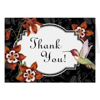 Columbine-Kolibri danken Ihnen, in der Orange zu Karte