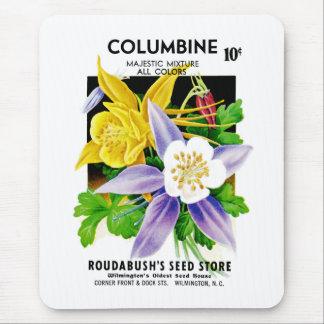 Columbine-Samen-Paket-Aufkleber Mousepad