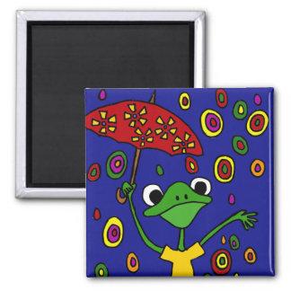 COLUMBIUM prachtvolles Frosch-Tanzen im Regen Quadratischer Magnet