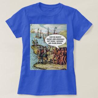 Columbus kommt im Amerikalustigen AntiTrumpf an T-Shirt