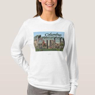 Columbus, Montana - große Buchstabe-Szenen T-Shirt
