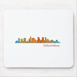 Columbus Ohio, City Skyline, v1, Mousepad