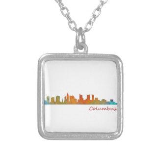 Columbus Ohio, City Skyline, v1, Versilberte Kette