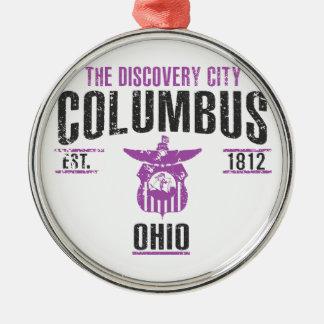 Columbus Silbernes Ornament