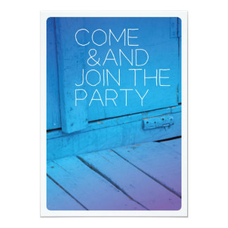 Come schließen sich der Partyfeiereinladung an 12,7 X 17,8 Cm Einladungskarte