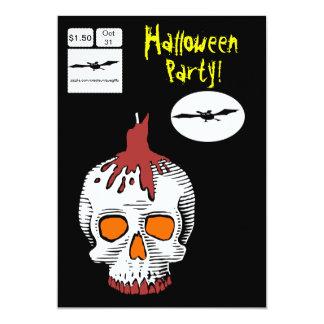 Comic-Art-Schädel-Halloween-Party-Einladung 12,7 X 17,8 Cm Einladungskarte