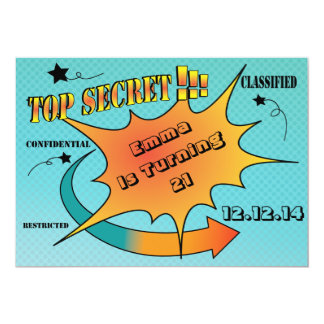 Comic-Art-Spitze - geheime Überraschung 12,7 X 17,8 Cm Einladungskarte