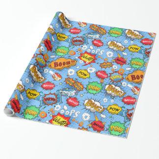 Comic-Buch-Blasen-Verpackungs-Papier Geschenkpapier