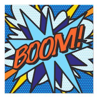 Comic-Buch BOOM! Laden Sie ein Quadratische 13,3 Cm Einladungskarte