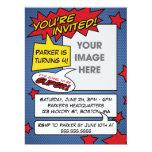 Comic-Buch-Geburtstags-Einladung