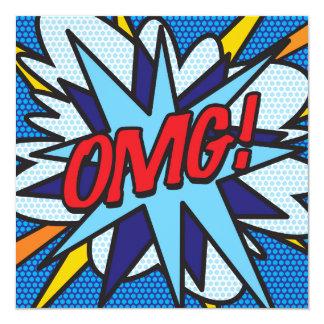 Comic-Buch OMG! laden Sie ein Quadratische 13,3 Cm Einladungskarte