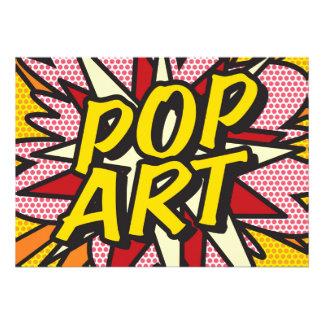 Comic-Buch POP-KUNST 12,7 X 17,8 Cm Einladungskarte