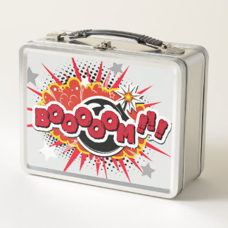 Comic-Buch-Pop-Kunst-Boom-Explosion Metall Lunch Box