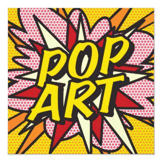 Comic-Buch POP-KUNST laden ein Quadratische 13,3 Cm Einladungskarte