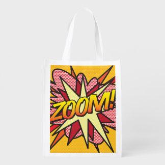 Comic-Buch-Pop-Kunst LAUTES SUMMEN! Wiederverwendbare Einkaufstasche