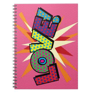 Comic-Buch-Pop-Kunst LIEBE! Notizblock