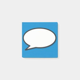 Comic-Buch-Pop-Kunst-Sprache-Blase Post-it Klebezettel